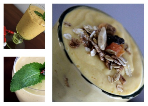 three ways to enjoy mango smoothie