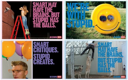 be stupid by Diesel - advert images - source: diesel.com